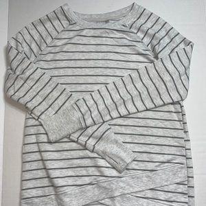 Long Sleeve Tunic Stripped Shirt